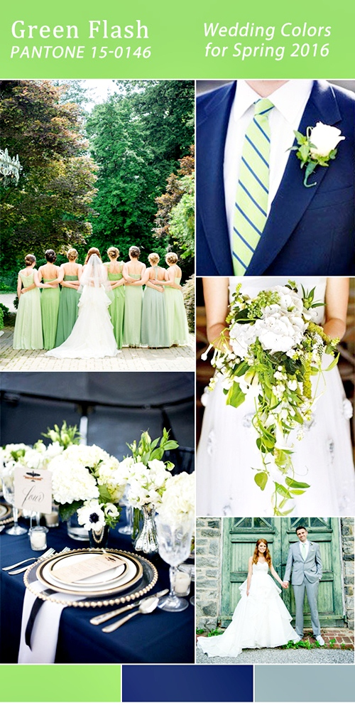 pantone-2016-spring-color-green-flash-and-navy-blue-wedding-color-ideas