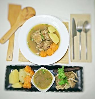 Black pock soup3