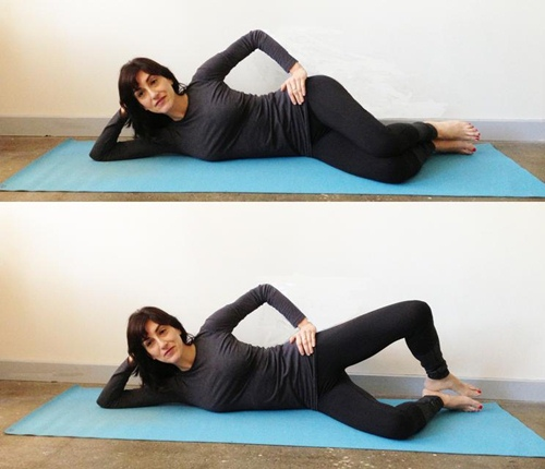 Cellulite-exercises-Clamshell