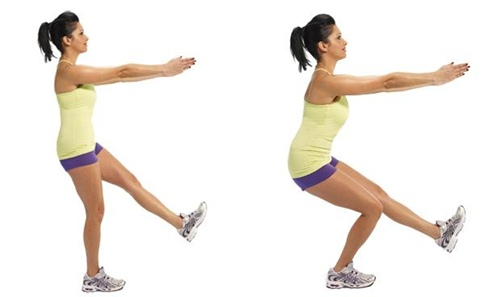 Cellulite-exercises-Single-leg-squat