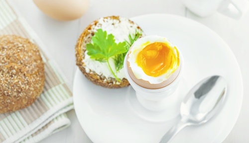 Perfect soft boiled egg for breakfast